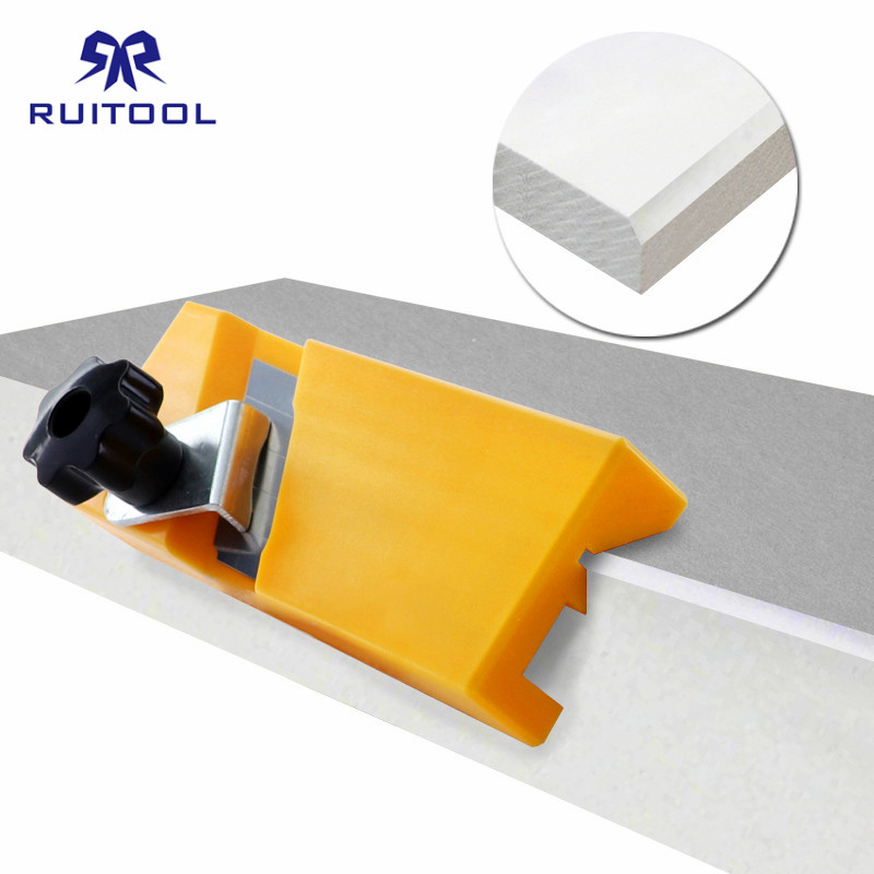Gypsum Board Hand Plane ABS Plastic Plasterboard Planing Tool Flat Square Drywall Edge Chamfer Woodworking