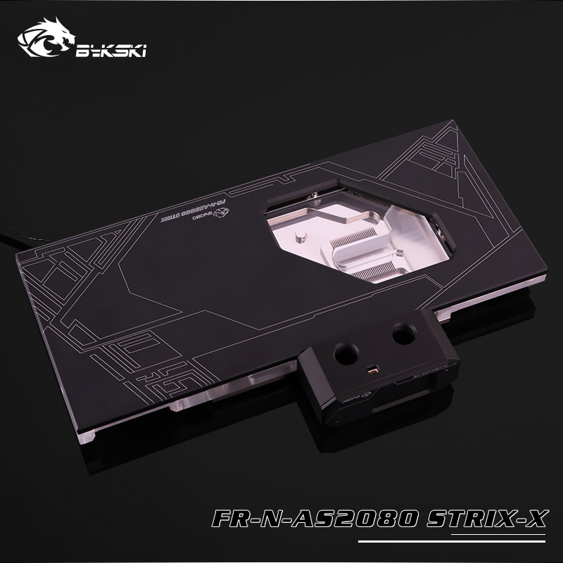 US $123 0 |FR N AS2080 STRIX X Bykski GPU water cooling block work with  ASUS ROG STRIX RTX 2080 O8G GAMING gpu cooler with light controller-in Fans  &