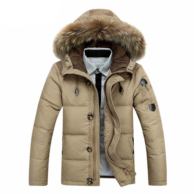 White Duck   Down   Winter Jacket Men Jackets   Coats   Fur Hood Outwear Warm Clothes 2016 New Fashion   Down   Parkas Men Clothing