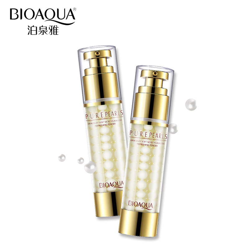 BIOAQUA Face Care Whitening Essence Cream60ml Pure Pearl Face Cream Deep Moisturizing Anti Wrinkle Hyaluronic Acid Skin Cream
