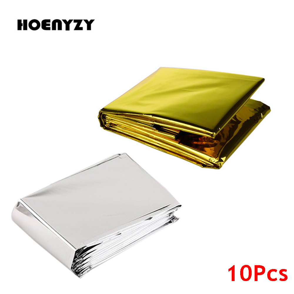 Closeout Deals10Pcs/lot Camping Water Proof Emergency Survival Rescue Blanket Save Foil Thermal First Aid Thermal Insulation Mylar Blanket