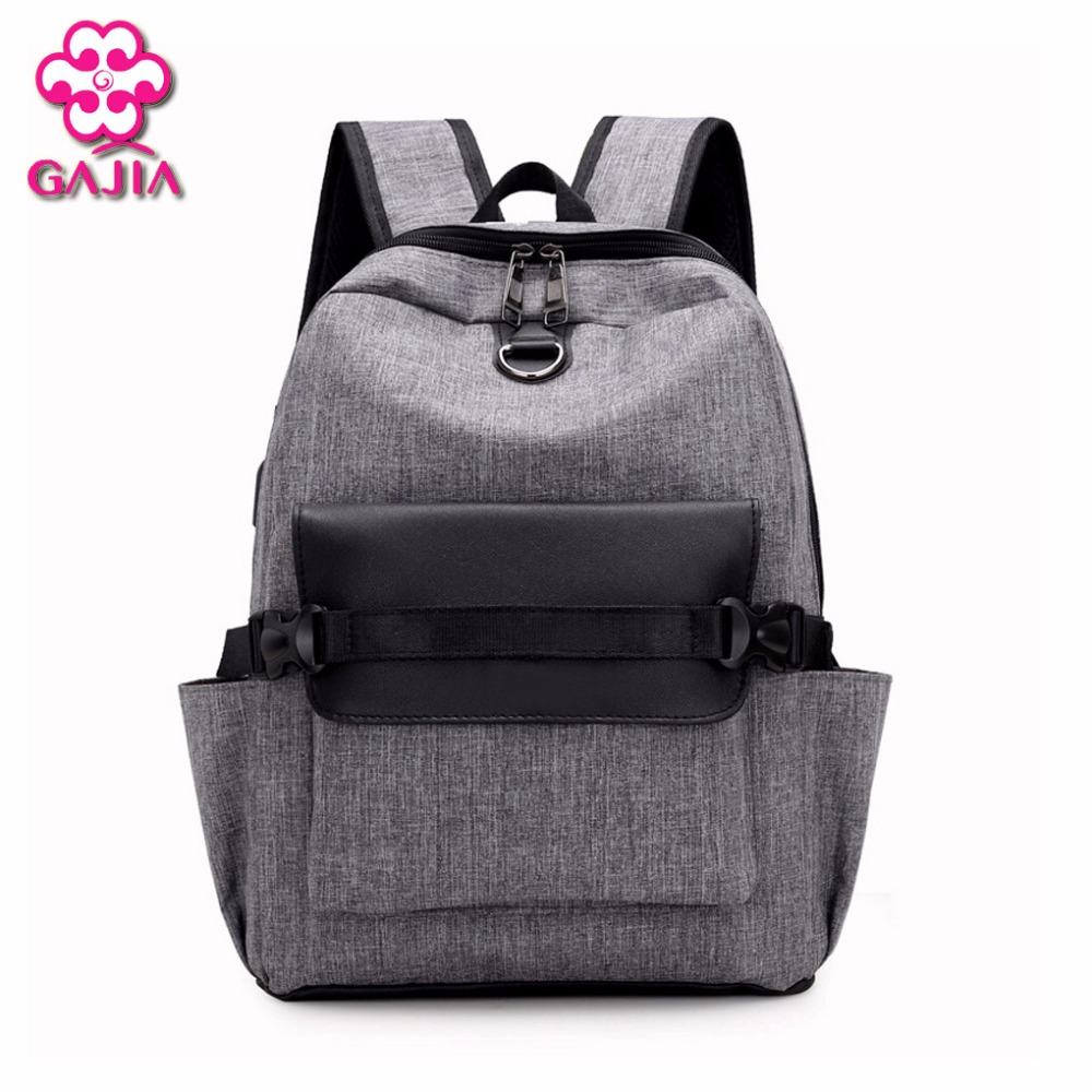 GAJIA Men Women USB Charge Computer Bag Anti-theft Notebook Backpack 13 15 17 inch Waterproof Laptop Backpack Women School Bags 13 14 15 6 17 3 inch computer shoulder bag shockproof laptop backpack canvas leisure men women laptop notebook backpack
