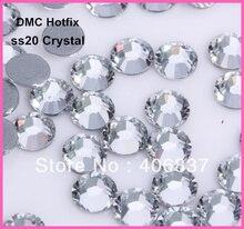 Free Shipping! 1440pcs/Lot, ss20 (4.8-5.0mm) High Quality DMC Crystal Iron On Rhinestones / Hot fix Rhinestones