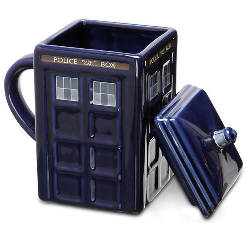 Creative Mug Best Gift Novelty 1Pcs Doctor Who Figural Tardis Porcelain Mug Coffee Cup Police Box