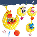 Educational Baby Toys Moon animal music bell bed hanging bed bell baby to appease the doll music soft plush Baby Rattle toys