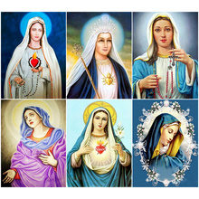 Oly 5D Diamond Painting Full Drill Virgin Mary Mosaic Sale Round Rhinestones Pictures Embroidery Home Decor