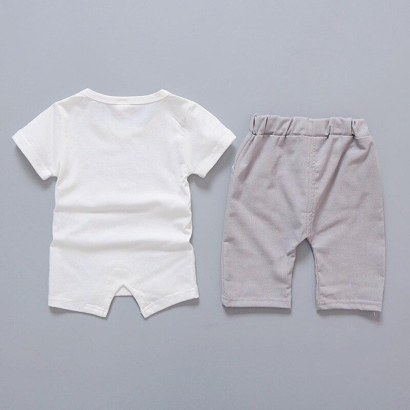 Pasgeboren baby boy kleding zomer kinderkleding korte mouwen t-shirts - Babykleding - Foto 2
