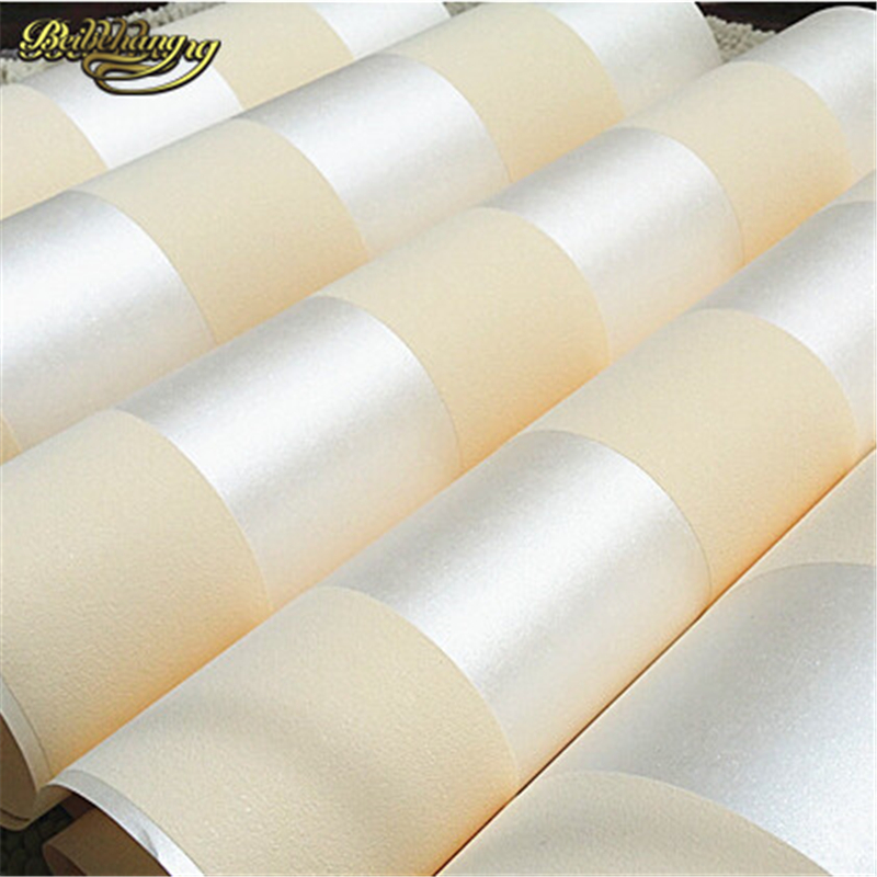 Beibehang 10M Roll Modern Simple Style 3D Stripe Wallpaper Bright Pink Beige Brown Wallpaper Of Cream White Background Wall Tape