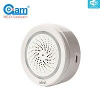 NEO NAS AB02W Smart WiFi USB Sirene Sensor Fernbedienung Home Automation Alarm System Motion Alarm Keine Hub Erforderlich-in Gebäudeautomation aus Sicherheit und Schutz bei
