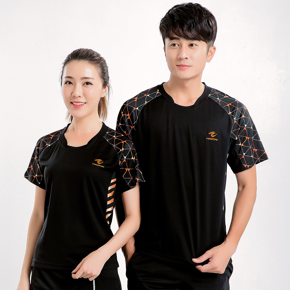 Free Print Badminton t shirt Women/Men , Tennis shirts , tennis t shirt , badminton wear clothes 5067