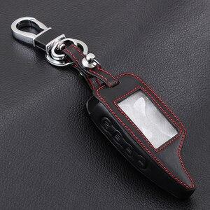 Image 3 - AndyGo עור מעורר מרחוק Keychain מקרה לשר חאן לmagicar שר חאן 5 6 M5 M6 כיסוי מחזיק