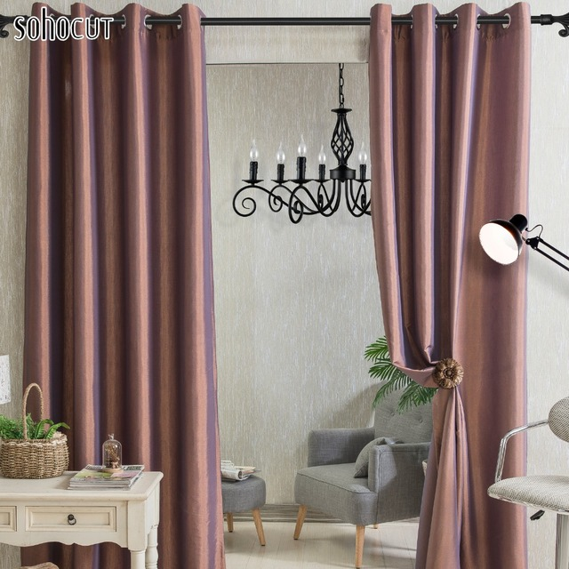 Exceptional Artistic Curtains Solid Color Window Shades Imitation Cream Blackout  Curtains,Grommet Sheers