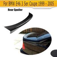 Boot lip spoiler for BMW E46 2 Door 1999 2005 C Style Carbon fiber rear trunk Spoiler Rear protector cover lip