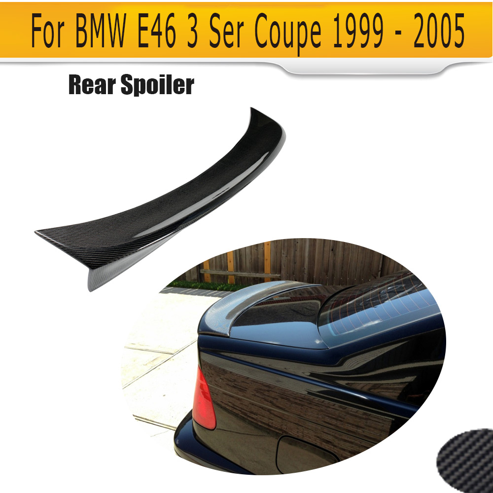 Boot lip spoiler for BMW E46 2 Door 1999-2005 C Style Carbon fiber rear trunk Spoiler Rear protector cover lipBoot lip spoiler for BMW E46 2 Door 1999-2005 C Style Carbon fiber rear trunk Spoiler Rear protector cover lip