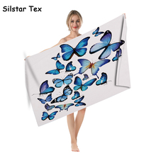 Silstar Tex Flying Butterfly Microfiber Bath Towels Floral Design Washcloth Swimwear Beach Towel Drop Ship the flying bath