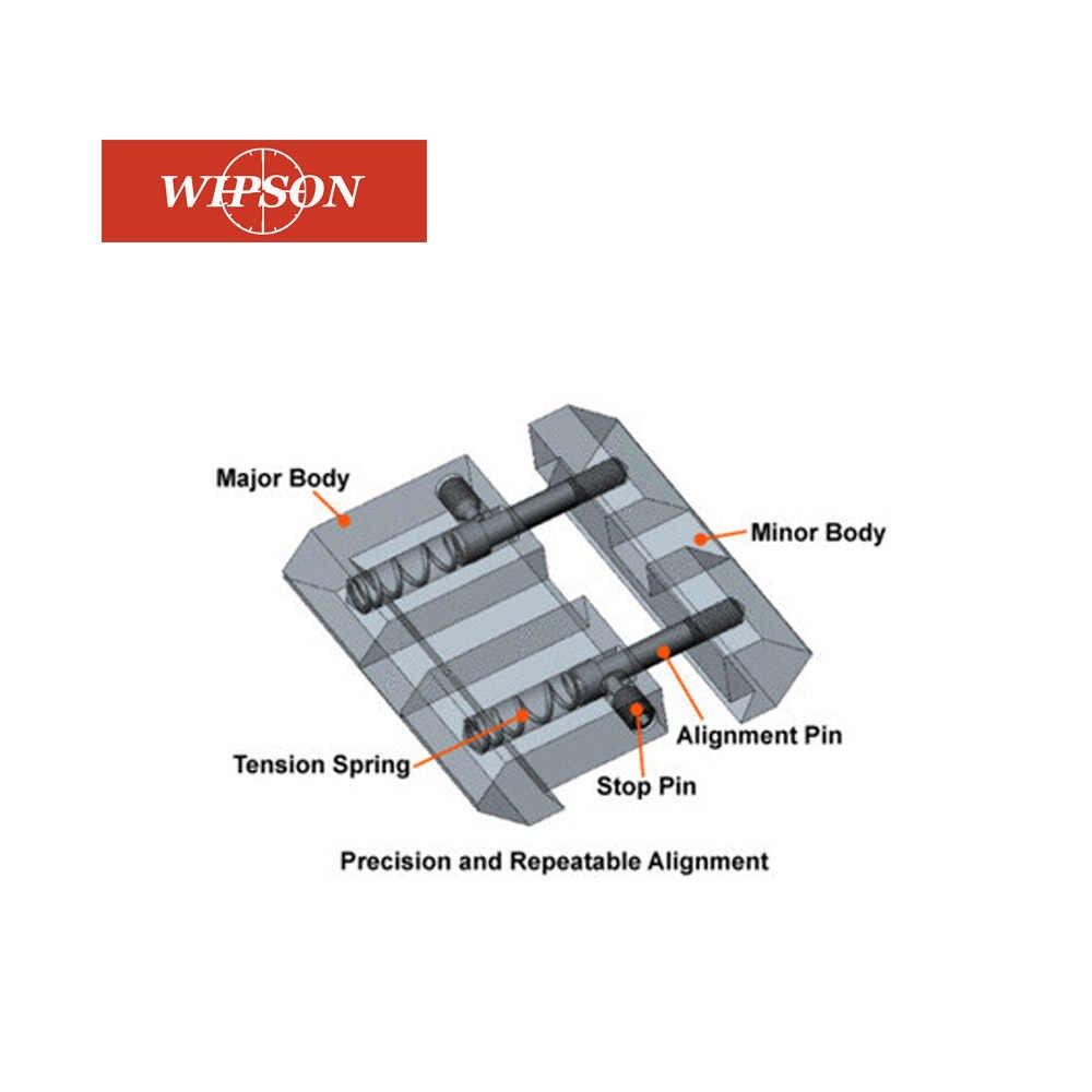 ويبسون 1 قطعة 11 مللي متر إلى 20 مللي متر نطاق السكك الحديدية قاعدة تثبيت ويفر Picatinny إلى تتوافق محول الصيد اكسسوارات