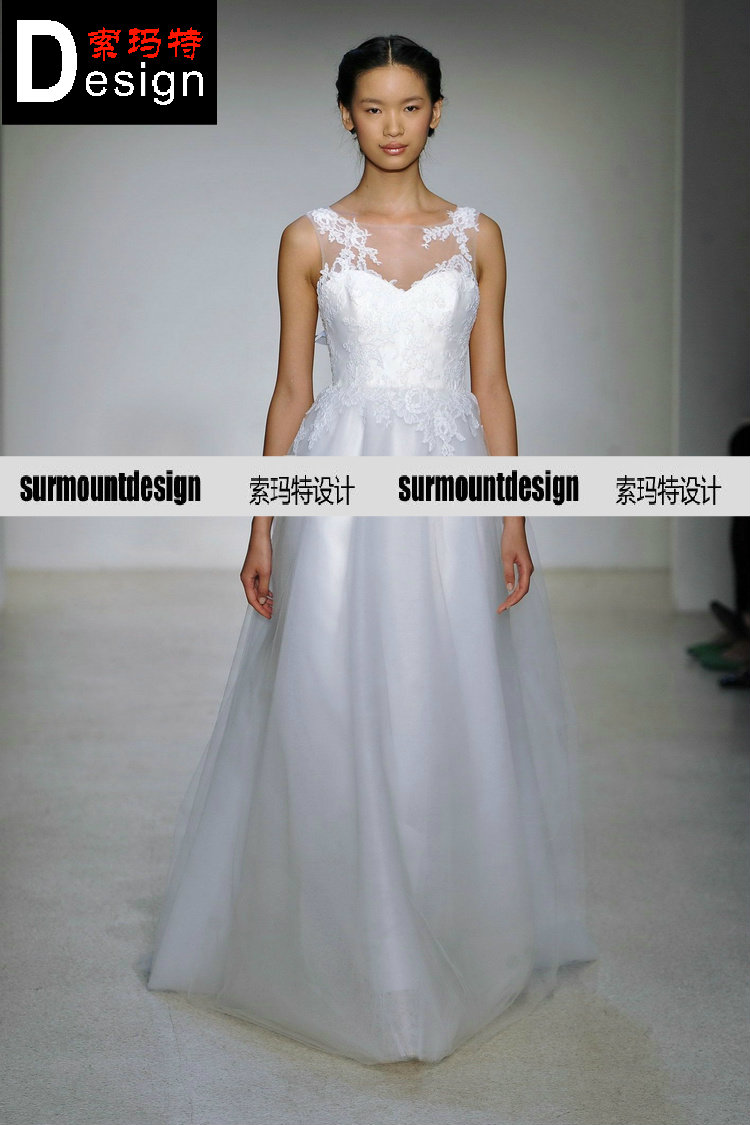 free shipping New fashion 2016 arrival so mart design vestido de noiva bride romantic marriage bridal gown lace wedding dresses in Wedding Dresses from Weddings Events