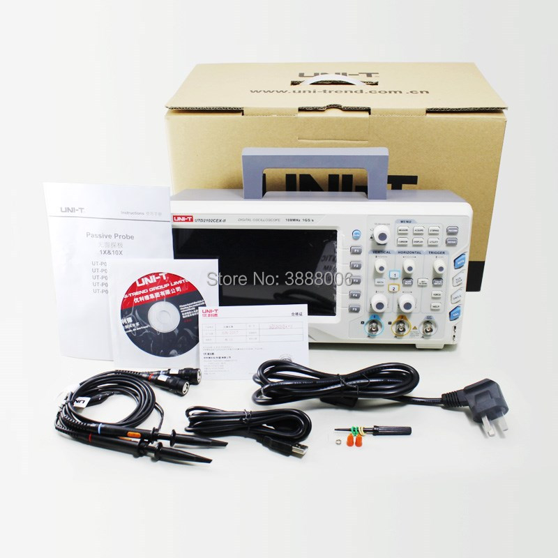 UNI-T UTD2102CEX-II Upgraded Digital Storage Oscilloscope 100MHz Bandwidth 1GS  s Sampling  2 Channels