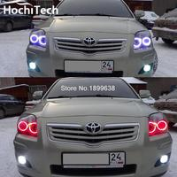 For Toyota Avensis T250 RGB LED headlight halo angel eyes kit car styling accessories 2003 2004 2005 2006 2007 2008 2009