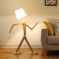 TUDA LED Floor Lamps Modern Minimalist Creative Wood Floor Lamp Can Adjust The Solid Wood Floor Lamp For Bedroom Living Room