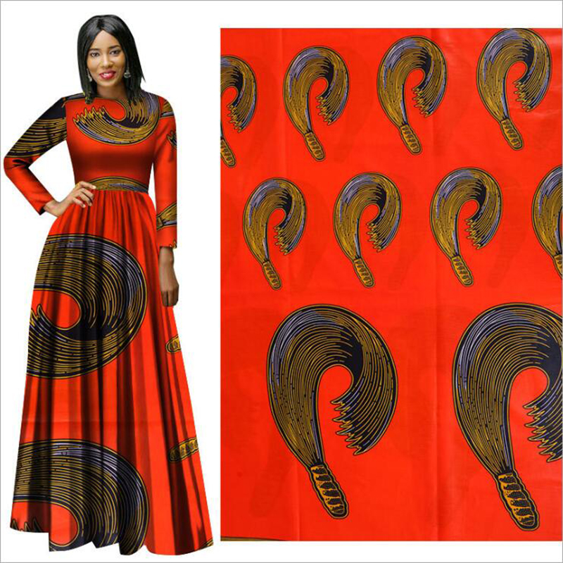Me-dusa 2019 newest folk-custom African Print Wax Fabric 100% cotton Hollandais Wax Dress Suit cloth 6yards/pcs High quility(China)