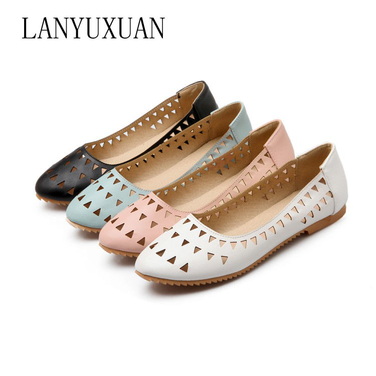 2017 Rushed Creepers Large Size 32-47 Women's Fashion Shoes Woman Flats Spring Female Ballet Metal Round Toe Solid Casual 8-15 plusbig size 34 43 women s fashion shoes woman flats spring shoes female ballet shoes metal round toe solid casual shoes 237