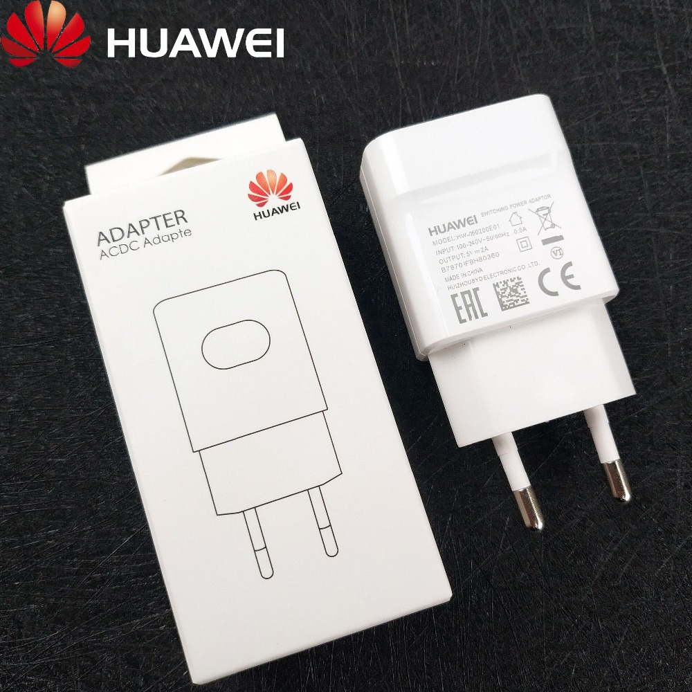 Original Huawei Honor 8x Charger 5V 2A EU Wall HW-050200E01 Charge Power Adapter For Huwaei p8 lite P8 P9 lite Honor 7 5 y5 ii