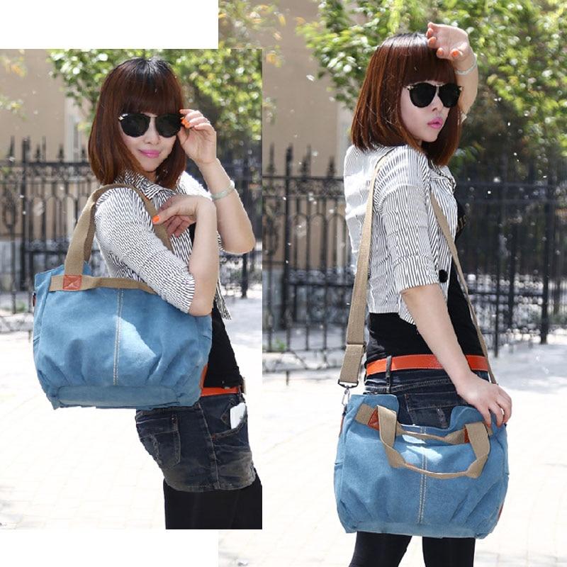 Image 5 - KVKY Brand Hot Fold Casual Tote Womens Handbag Shoulder Crossbody Bags Canvas High Capacity Bag for Women Female bolsa femininaTop-Handle Bags   -