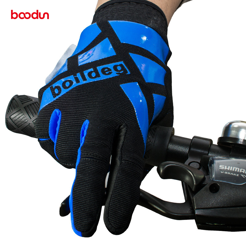 Boodun Winter Warm Cycling Gloves Full Finger Touch Screen Road MTB Mountain Bike Bicycle Racing Outdoor Sports Glove Unisex