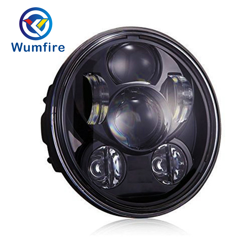 Wumfire 5.75 LED motocicleta faro daymaker negro para Harley Sportster 1200 XL1200L encargo XL1200C 883 XL883 883L XL883R