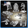 Mini Qute Piece Fun 3D Metal Puzzle Star War AT-AT Walker R2D2 TIE Fighter Millennium Falcon Destroyer X Wing educational toy