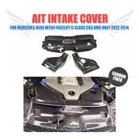 3PCS Set Carbon Fiber Car Cold Air Filter Intake System Cover For Mercedes Benz W204 Facelift