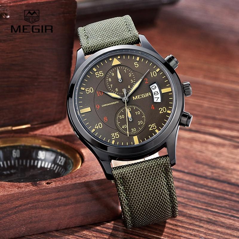 Megir Clock Male Watch Men Watches Luxury Famous Style Quartz Watch Wrist for Men Quartz watch