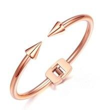 Rose gold open bracelet, titanium steel nail bracelet, fashion jewelry accessories wholesale,TY0523006