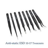 Pinzas antiestáticas ESD de alta calidad  8 Uds.  envío gratis  juego de 10-17 para Estación de soldadura  herramientas de asistencia para soldadura  8 Uds./lote