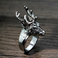 MMS Mens Ring Gothic Style Cool Deer Ring Top Quality Chirstmas Gift