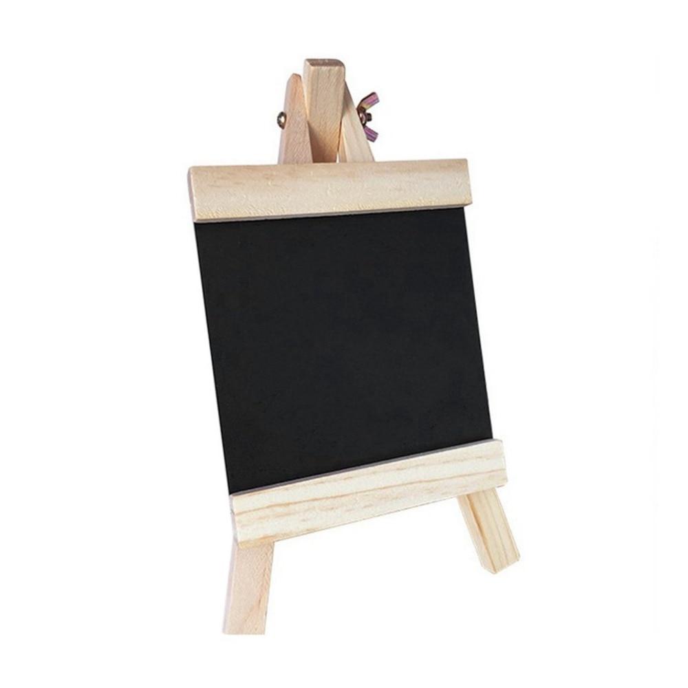 Mini Desktop Blackboard Pine Wood Easel Chalkboard Kid Wood Black Board Collapsible Writing Boards