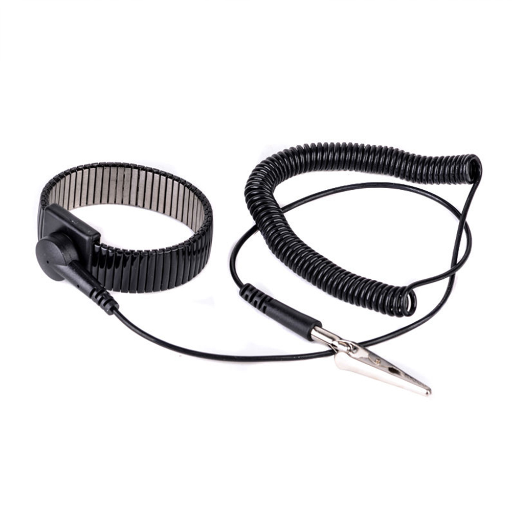 Adaptable 1.8m Anti Static Wrist Strap Grounding Electricity Discharge Esd Band Bracelet High Quality Black Adjustable Strap Promoting Health And Curing Diseases