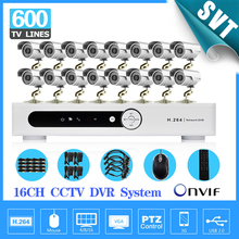 Fast Express 600tvl IR outdoor camera with dvr realtime recording cctv system video kit 16 channel hdmi 1080p SK-040
