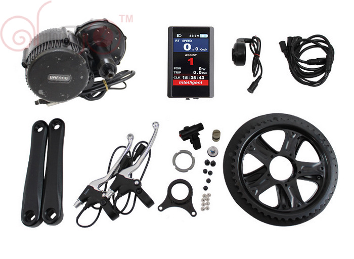 Free Shipping Bafang 8Fun 48V 350W BBS01 Mid Drive Motor eBike Kit Color LCD 850C or Black C965 Display BBS01 free shipping authentic bafang 36v 350w electric bicycle bbs01 mid crank drive motor kit ebike c965 color 850c lcd conhismotor