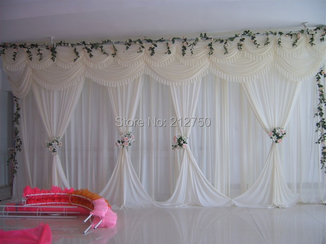 White Elegant Wedding Backdrop Curtain Marriage Wedding