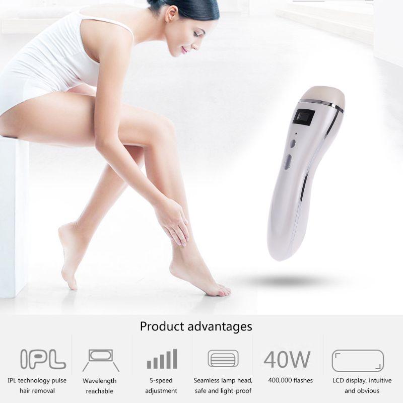 400000 flash profesional permanente IPL epilator láser LCD depilación foto eléctrica mujeres indolora removedor de cabello-in Depiladoras from Electrodomésticos    1