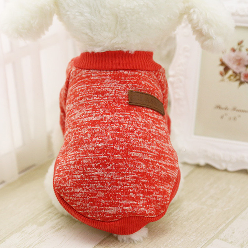 summer t-shirt vest cheap puppy clothes 8 color pet dog puppy classic sweater fleece sweater clothes warm sweater winter vest