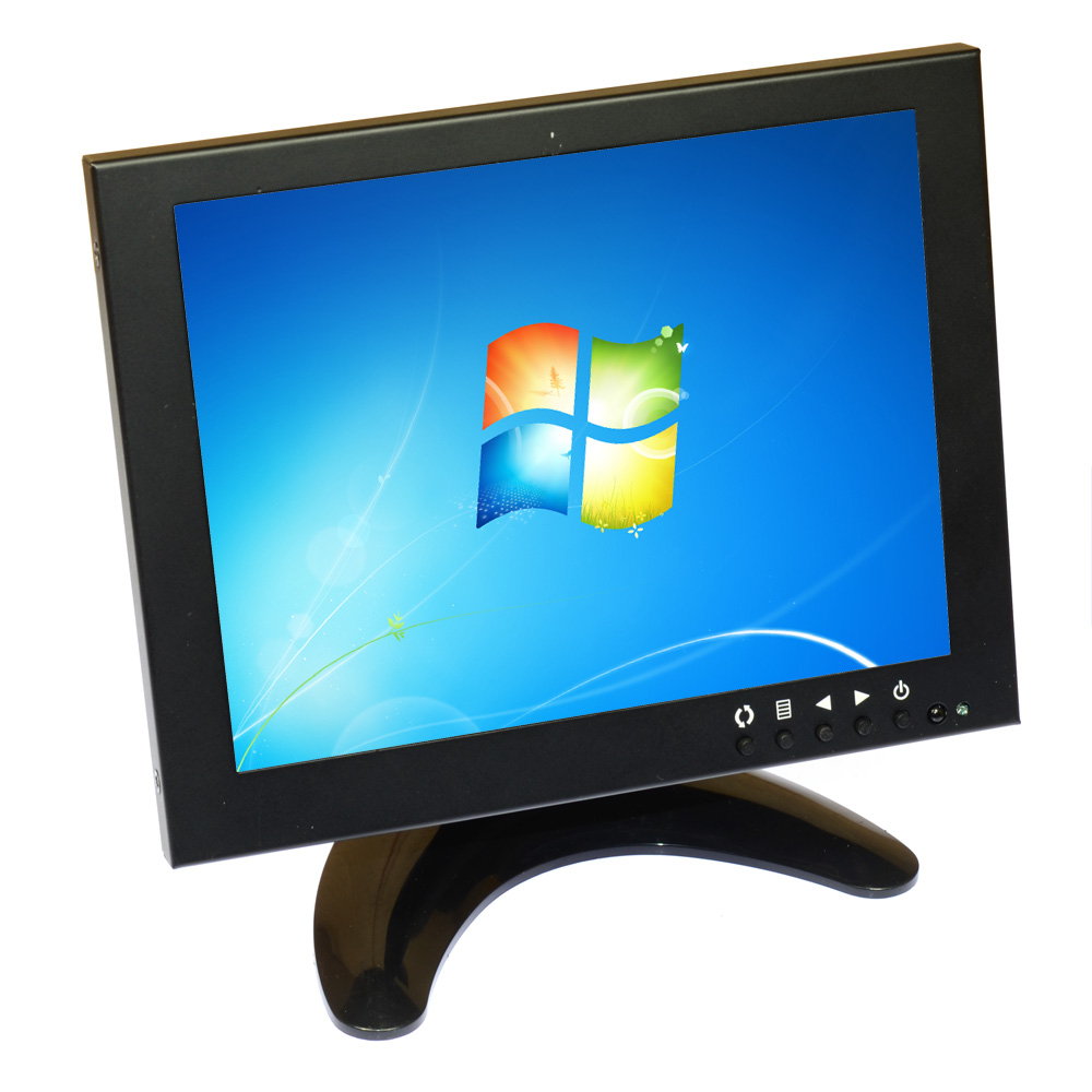 8 inch Screen LCD Color Monitor HD HDMI VGA BNC AV Display Color Screen Remote Control for PC CCTV Computer Game Security 4:3 12 inch 12 1 inch vga connector monitor 800 600 song machine cash register square screen lcd industrial monitor display