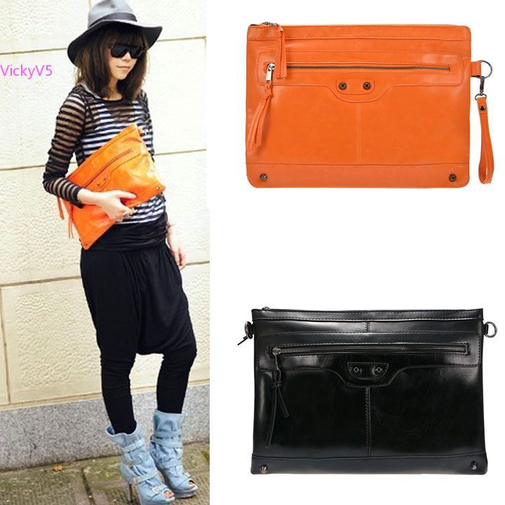 Popular Black and Orange Clutch Bag-Buy Cheap Black and Orange ...