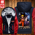 2016 Naruto Hoodie New Anime Uchiha Cosplay Coat Uzumaki Naruto Jacket Winter Men Thick Naruto Sweatshirts Free Shipping