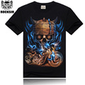 5 patterns 2015 Men`s t-shirt Brand tees M-XXXL Casual Style t-shirt men Short Sleeve men t shirt Streetwear Metallica acdc BX3