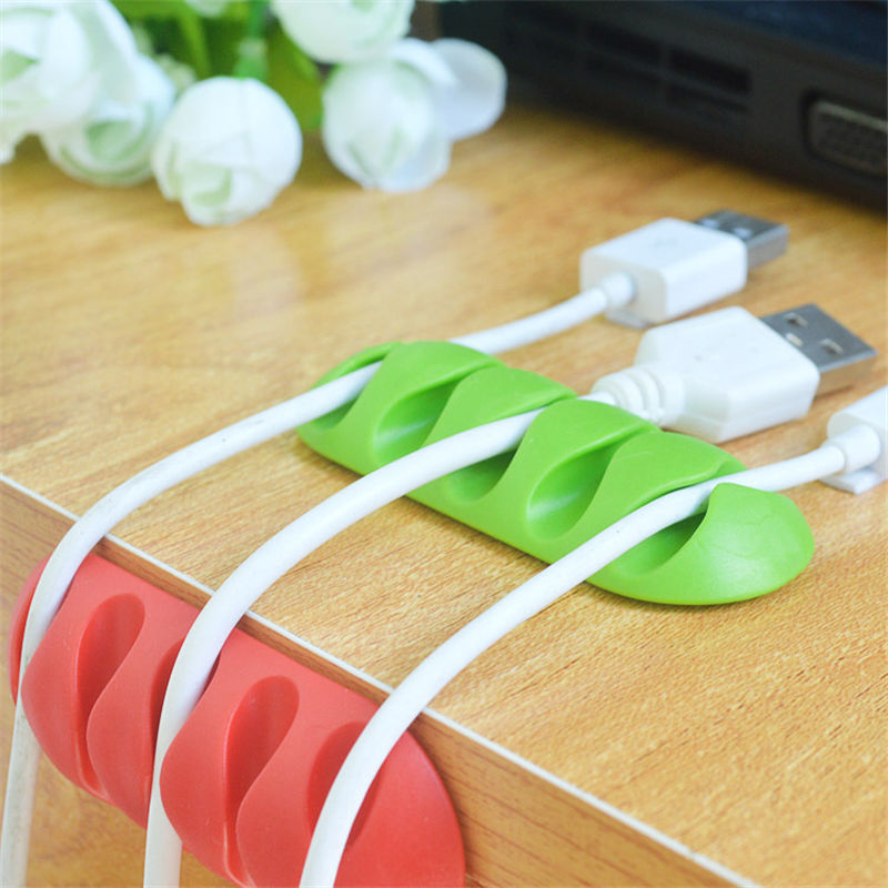 1Pcs Cable Wire Desk Set Solid Line Power Cord Data Line Hub Holder Cable Wire Organizer Clip USB Charger Cord Holder