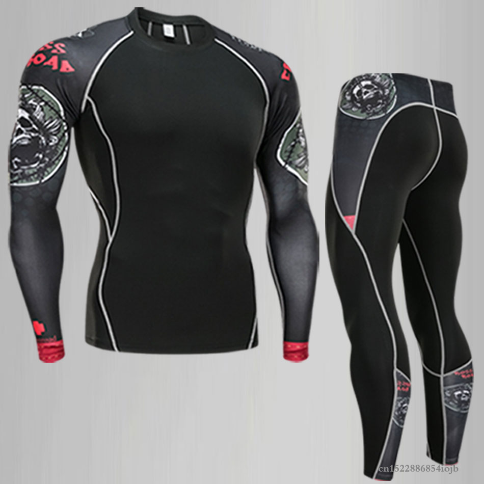 New Compression Men's Sport shirt Quick Dry Running sets