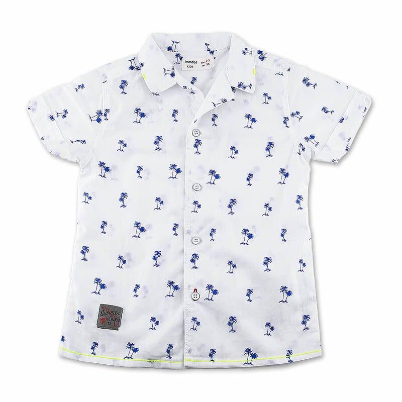 IMMDOS Summer font b Baby b font Boys Blouses Kids Short Sleeve Cotton Cute Shirt Boy